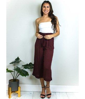 Linen Culotte Pants