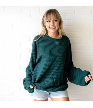 Vintage Emerald Knit Sweater