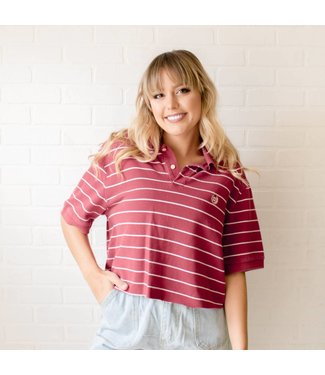 Vintage Striped Chaps Polo
