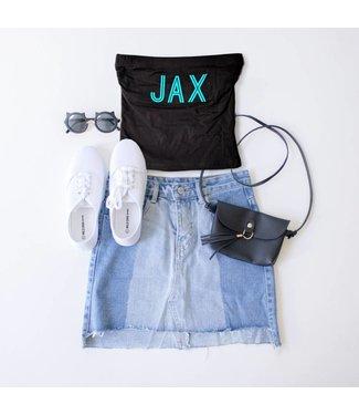 Black JAX Tube Top