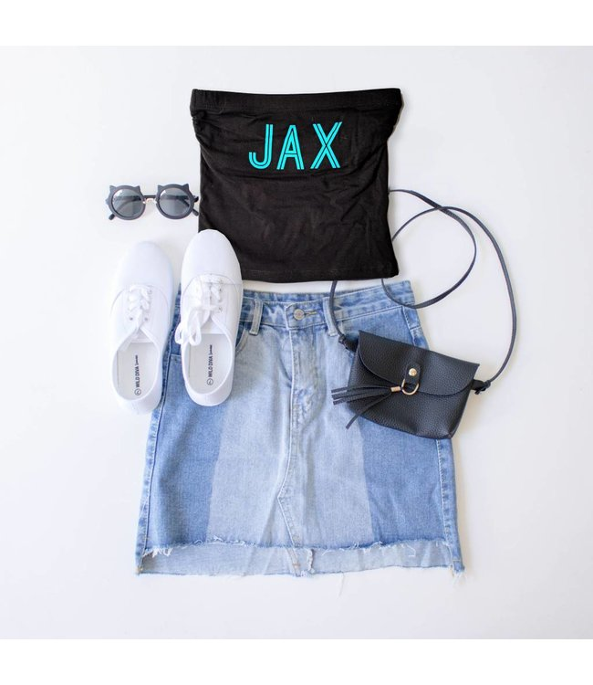 Black JAX Tube Top