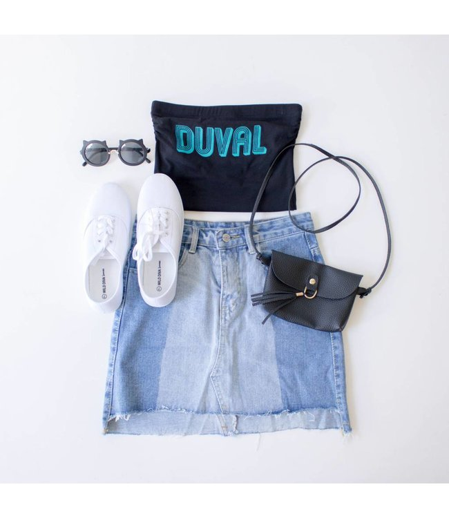 Black Duval Game Day Tube Top