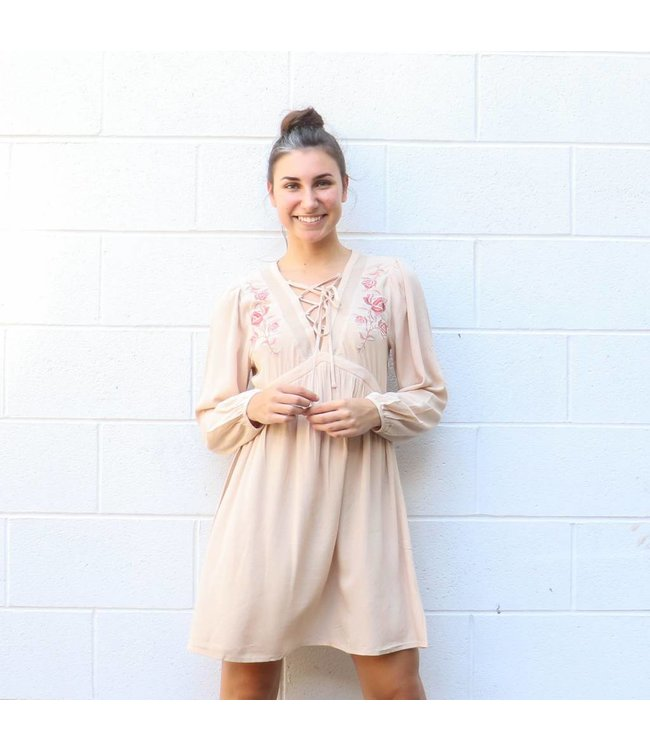 Long Sleeve Floral Dress The Copper Closet