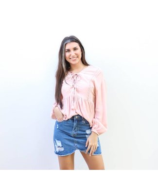 Blush Peplum Top