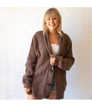 Vintage Brown Knit Cardigan