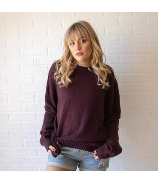 Vintage Wine Knit Sweater
