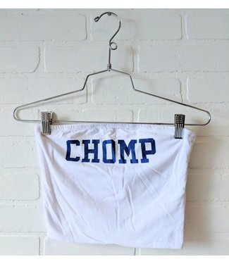 White Chomp Tube top
