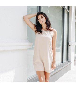 Tan Shift Dress