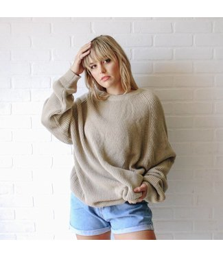 Vintage Tan Knit Sweater