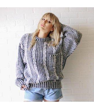 Vintage Black Multi Colored Sweater