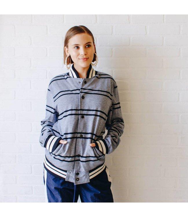 Vintage Brooklyn Varsity Striped Jacket