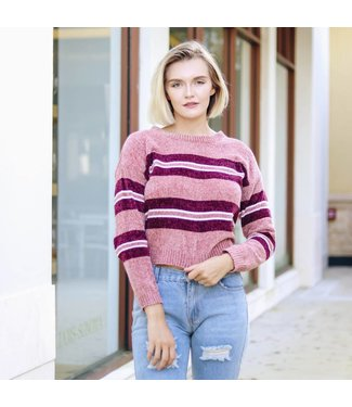COZY STRIPED SWEATER