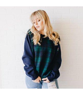 VINTAGE Plaid Sweater