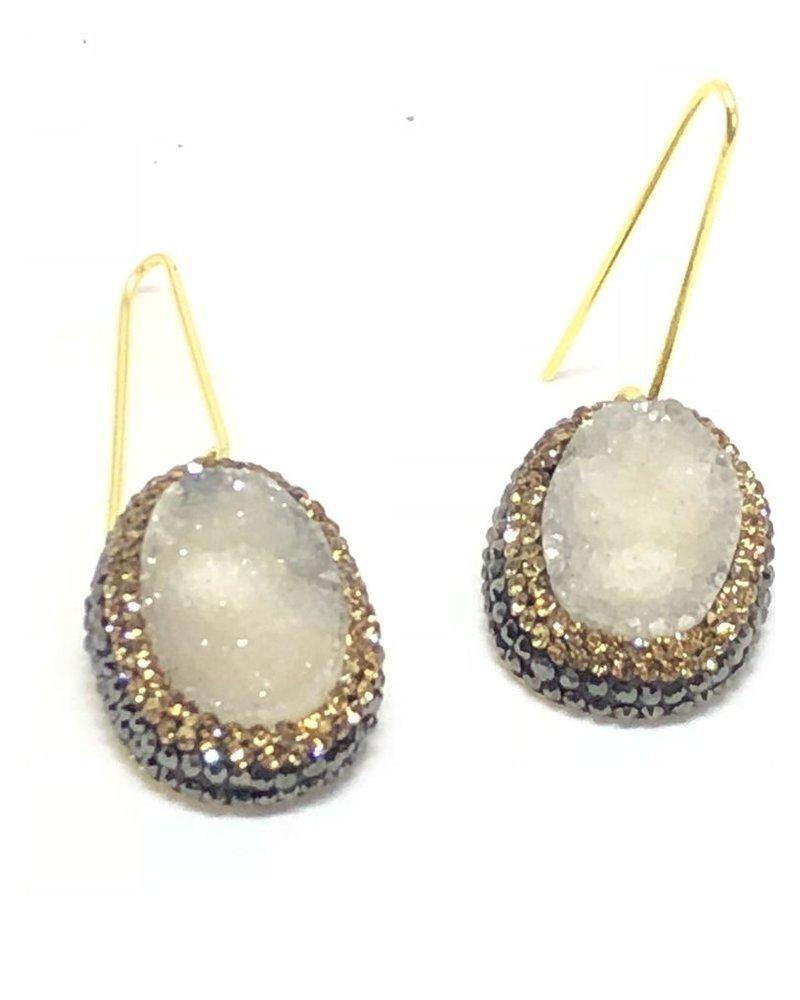 Druzy Earrings 925 silver