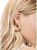 Brushed Metal Flat Hoop Earring
