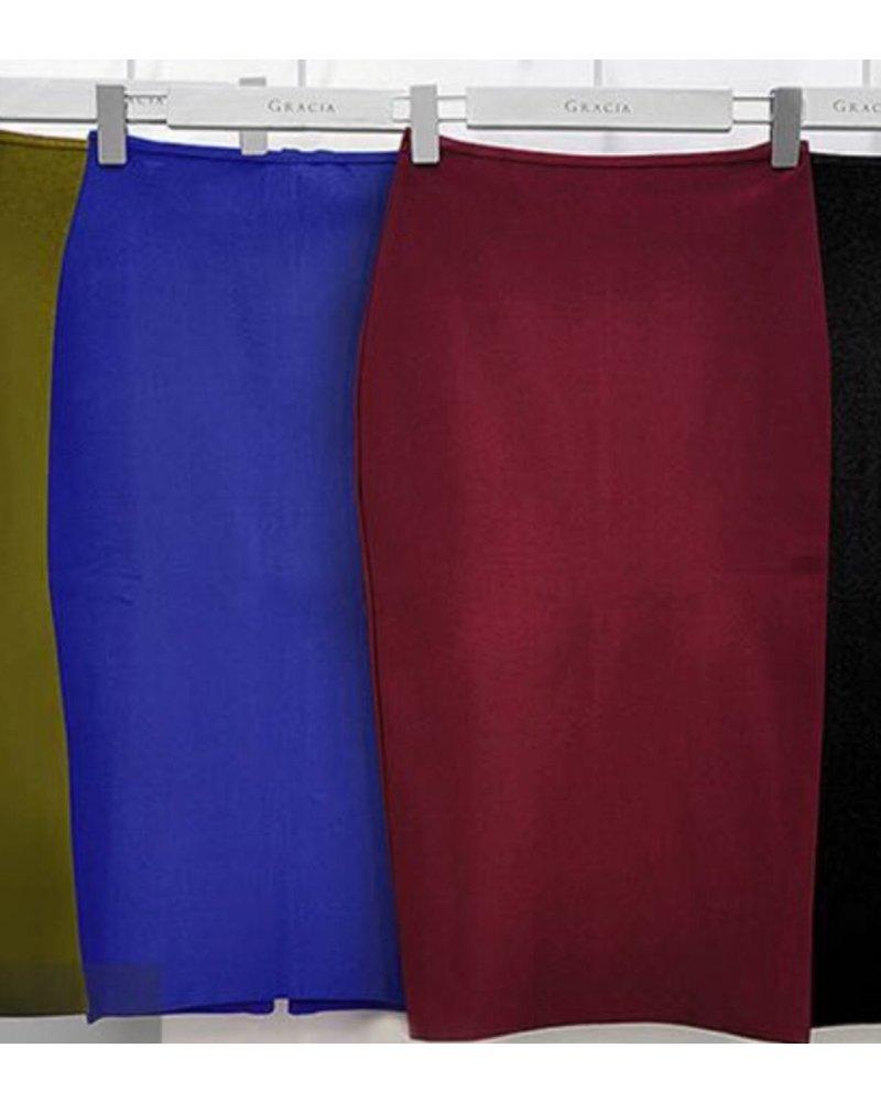 Bandage solid color midi skirt