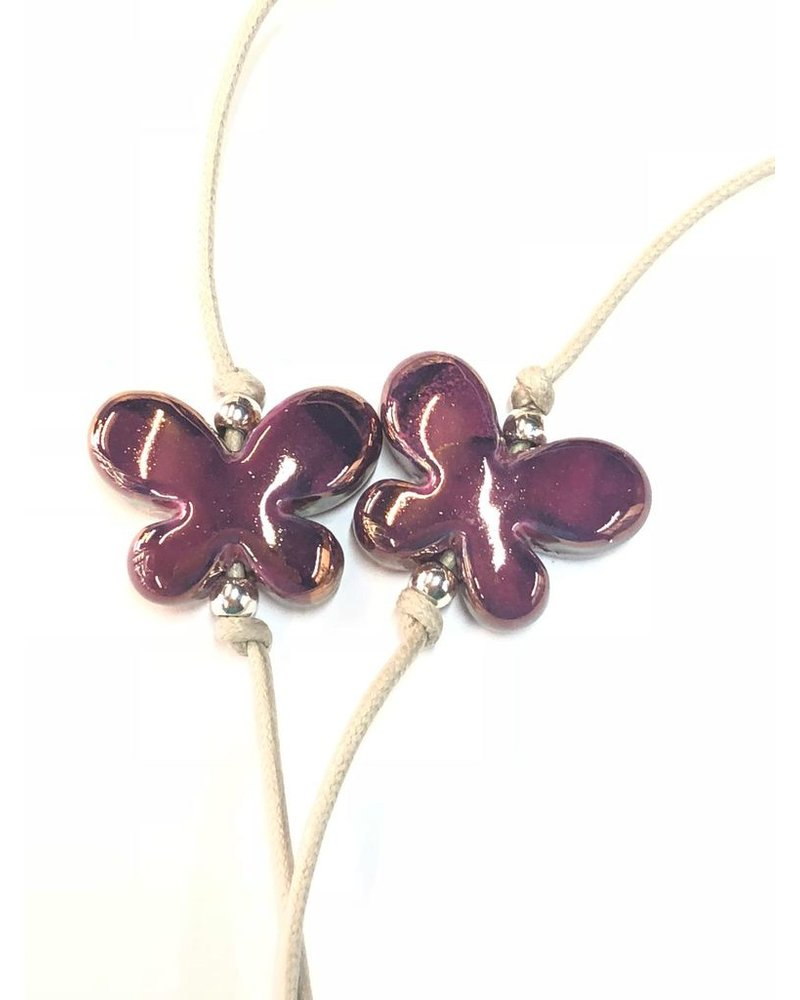 Butterfly Ceramic Long Necklace