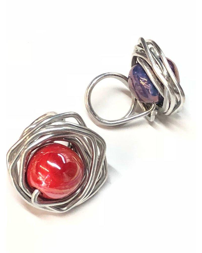 Ceramic Ball Metal Ring