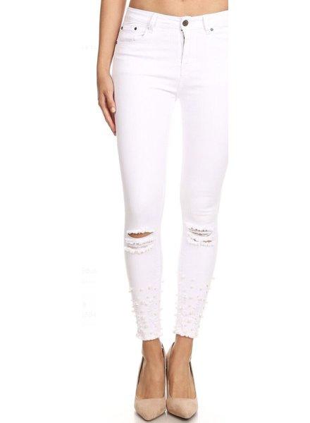 White Denim Pant Pearl