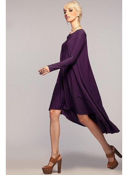 Classic High Low Long Sleeve Dress