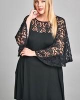 Floral Lace Tunic Dress