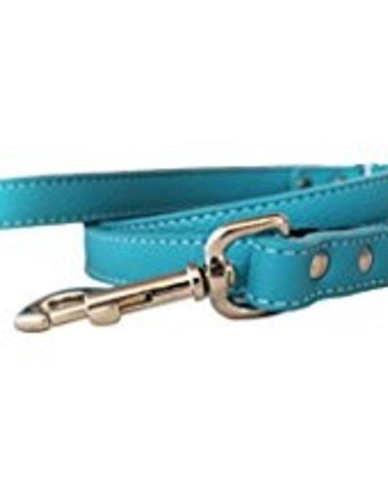 "Auburn Leather Turquoise 1/2""x72"""