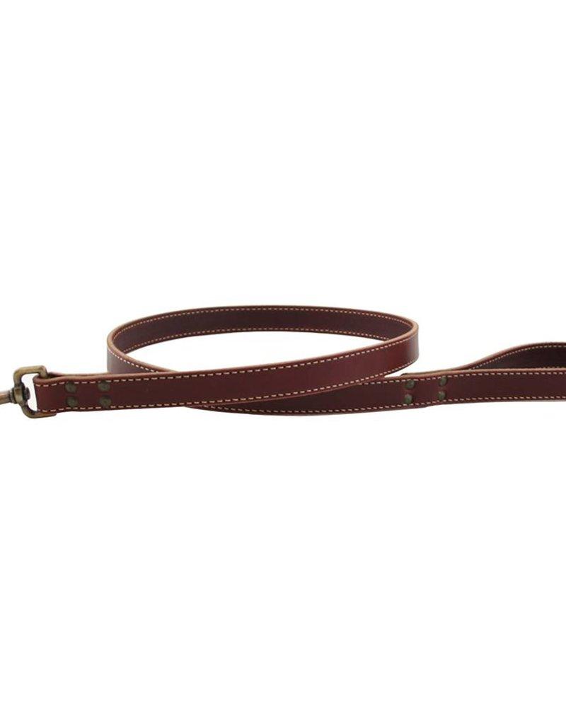 "Auburn Leather Burgundy 1""x72"""