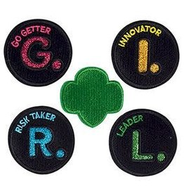 GIRL SCOUTS OF THE USA G.I.R.L. Adhesive Patches 12DOC