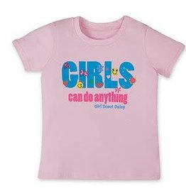 GIRL SCOUTS OF THE USA Daisy Girls Can Do Anything Tee 12DOC
