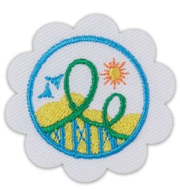 GIRL SCOUTS OF THE USA Daisy Roller Coaster Design Badge