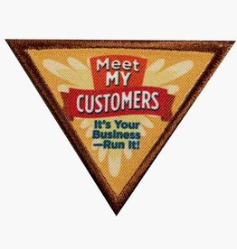 GIRL SCOUTS OF THE USA Brownie Meet My Customers Badge