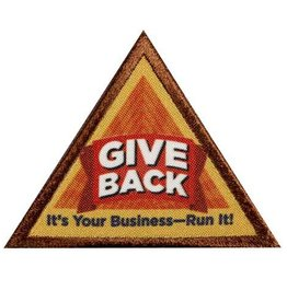 GIRL SCOUTS OF THE USA Brownie Give Back Badge