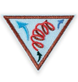 GIRL SCOUTS OF THE USA Brownie Leap Bot Design Badge