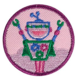 GIRL SCOUTS OF THE USA Junior Showcasing Robots Badge