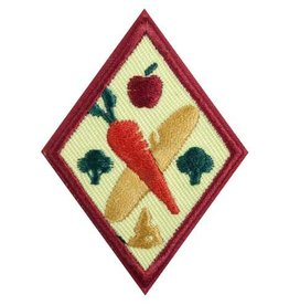 GIRL SCOUTS OF THE USA Cadette Eating for You Badge