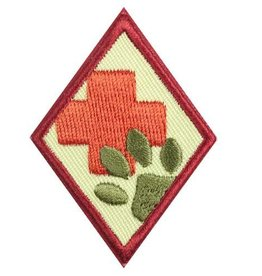 GIRL SCOUTS OF THE USA Cadette Animal Helpers Badge