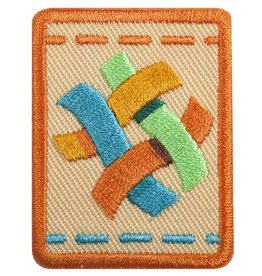 GIRL SCOUTS OF THE USA Senior Textile Artist Badge