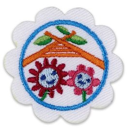 GIRL SCOUTS OF THE USA Daisy Buddy Camper Badge