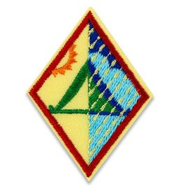 GIRL SCOUTS OF THE USA Cadette Primitive Camper Badge