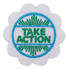 GIRL SCOUTS OF THE USA Daisy Take Action Award Badge