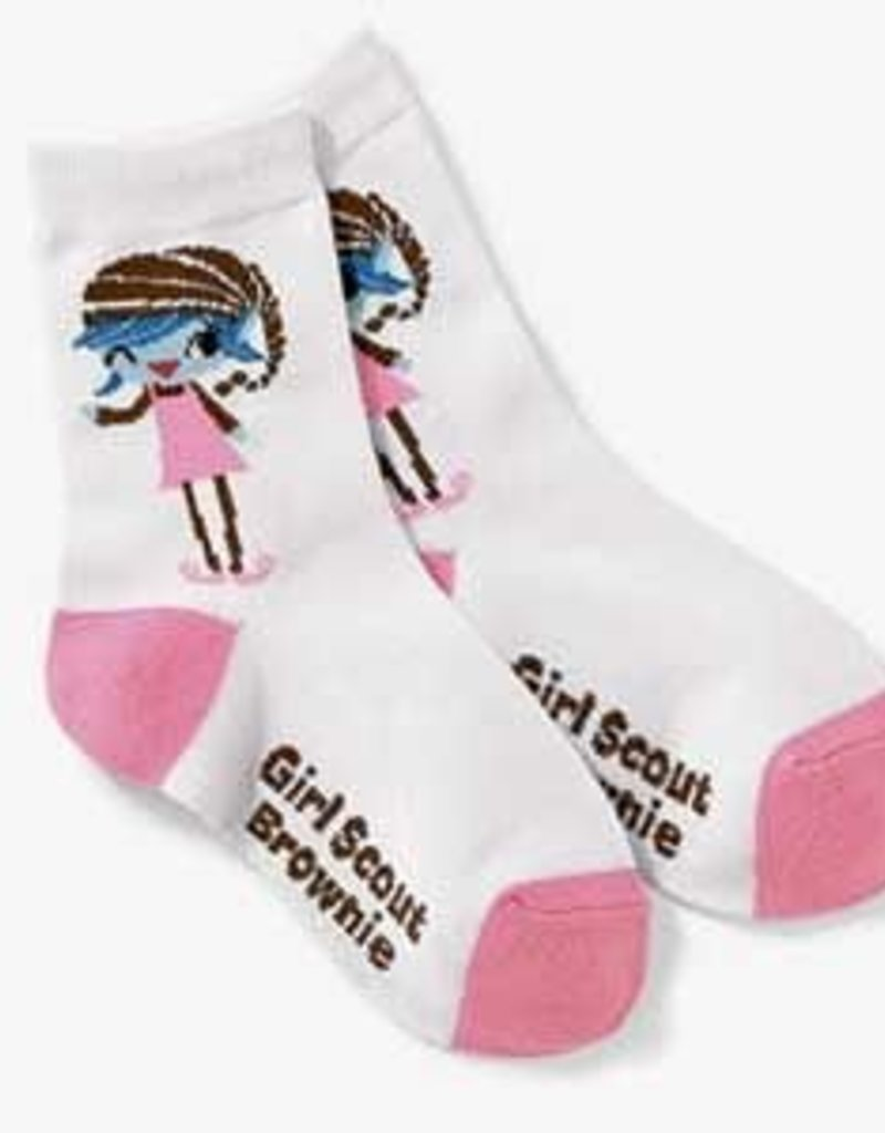 GIRL SCOUTS OF THE USA Brownie Crew Sock w/Elf MD