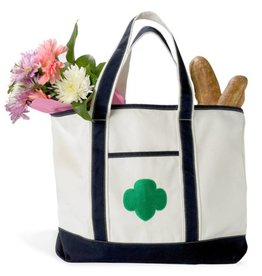 GIRL SCOUTS OF THE USA Canvas Boat Tote Bag