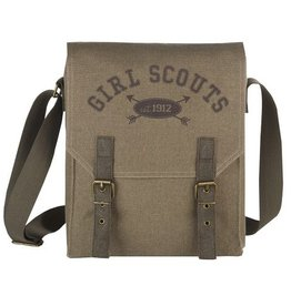 GIRL SCOUTS OF THE USA Khaki Messenger Bag