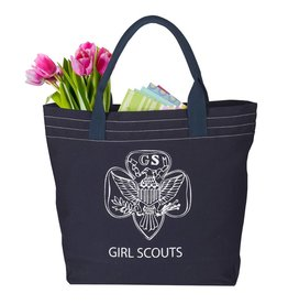 GIRL SCOUTS OF THE USA Navy Traditional Trefoil Tote Bag