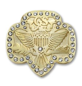 GIRL SCOUTS OF THE USA Traditional Trefoil Bling Brooch