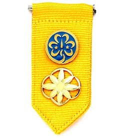 GIRL SCOUTS OF THE USA Daisy Insignia Tab - Yellow