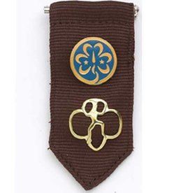 GIRL SCOUTS OF THE USA Brownie Insignia Tab -Brown