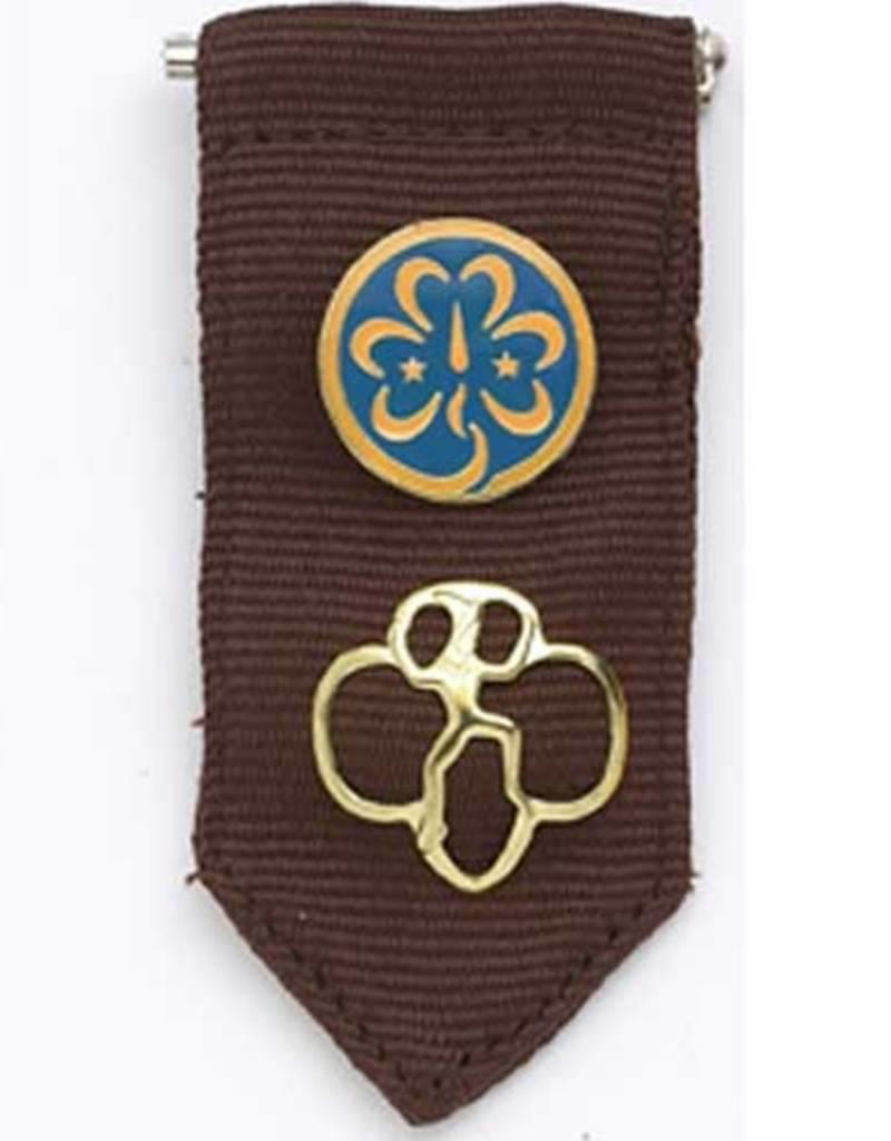 Girl Scouts Of The Usa Brownie Insignia Tab Brown Girl Scouts Of