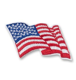 GIRL SCOUTS OF THE USA American Flag Patch for Uniform