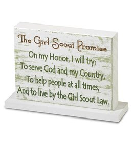GIRL SCOUTS OF THE USA Girl Scout Promise Woodblock